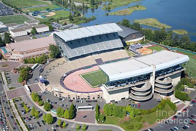 Aerial Of Husky Stadium Art Print