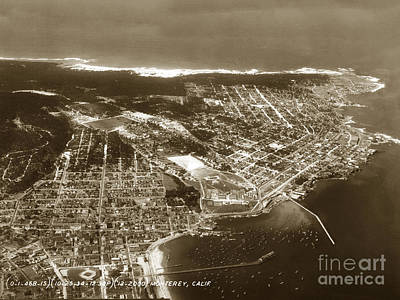 Aerial  Of Monterey Calif. Oct. 25 1934 Art Print
