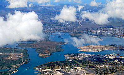Photograph - Aerial Of Pearl Harbor by Caroline Stella