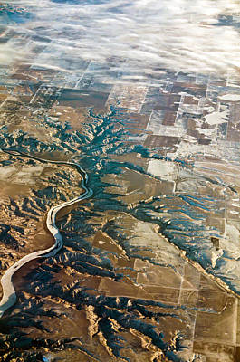 Photograph - Aerial Of Rocky Mountains Over Montana State by Alex Grichenko
