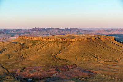 Great Falls Photograph - Aerial Of Square Butte Near Great by Chuck Haney