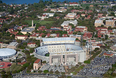 Pete Maravich Photograph - Aerial Of Tiger Stadium by Bill Cobb