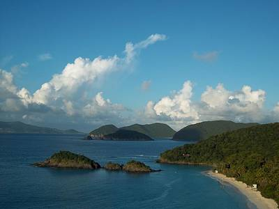 Photograph - Aerial Of Trunk Bay by Caroline Stella
