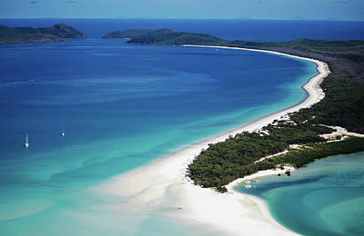 Awe Wall Art - Photograph - Aerial Of Whitehaven Beach by Holger Leue