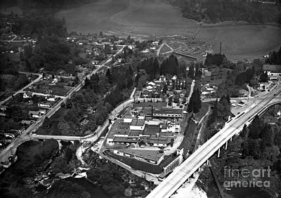 Photograph - Aerial Old Tumwater 1947 by Vibert Jeffers