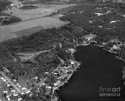 Photograph - Aerial Over Hicks Lake by Merle Junk