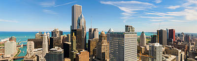 Photograph - Aerial Panoramic View Of Chicago And by Chrisp0
