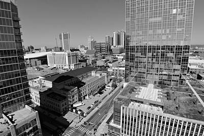 Photograph - Aerial Photography Downtown Nashville by Dan Sproul
