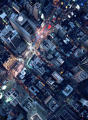Photograph - Aerial Photography Of Times Square, Ny by Michael H