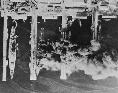 Aerial Photos Of The Scuttled French Art Print by Everett