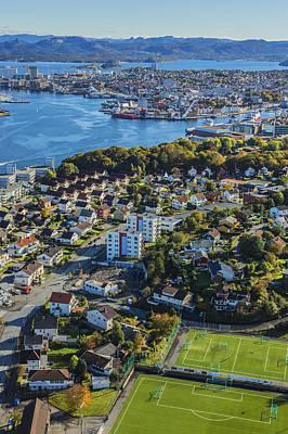 Photograph - Aerial Shot Of Stavanger City by Sindre Ellingsen