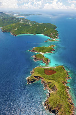 Photograph - Aerial Shot Of West End, St. Thomas, Us by Cdwheatley