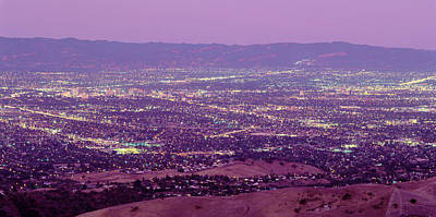 Aerial Silicon Valley San Jose Art Print by Panoramic Images