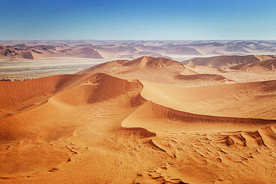 Photograph - Aerial View, Africa Namib Desert by Mlenny