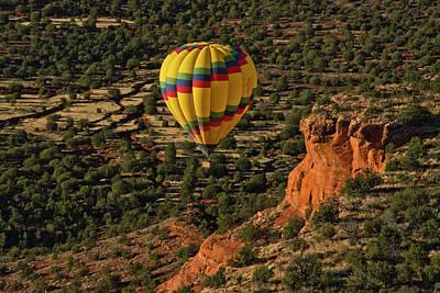 Aerial View, Doe Mesa, Red Rock Art Print