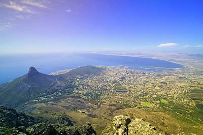 Cape Town Photograph - Aerial View From Table Mountain by Panoramic Images