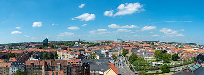 Aerial View Of A City, Aarhus, Denmark Art Print by Panoramic Images