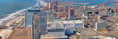 Aerial View Of A City, Atlantic City Art Print by Panoramic Images