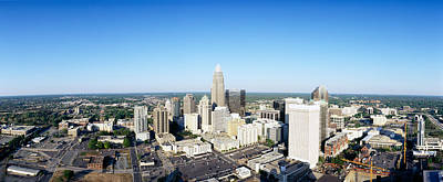 Mecklenburg County Photograph - Aerial View Of A City, Charlotte by Panoramic Images