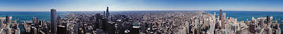 360 Wall Art - Photograph - Aerial View Of A City, Chicago River by Panoramic Images