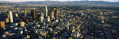 Crowd Scene Photograph - Aerial View Of A City, City Of Los by Panoramic Images