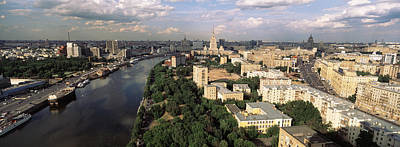 Aerial View Of A City, Moscow, Russia Art Print by Panoramic Images