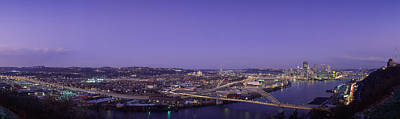 Allegheny County Photograph - Aerial View Of A City, Pittsburgh by Panoramic Images