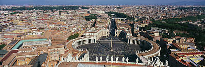 Vatican Photograph - Aerial View Of A City, St. Peters by Panoramic Images
