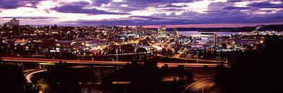 Aerial View Of A City, Tacoma, Pierce Art Print
