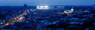 Stadium Scene Photograph - Aerial View Of A City, Wrigley Field by Panoramic Images