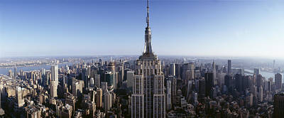 Empire State Building Photograph - Aerial View Of A Cityscape, Empire by Panoramic Images