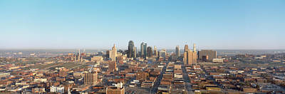 Crowd Scene Photograph - Aerial View Of A Cityscape, Kansas by Panoramic Images