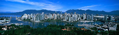 Aerial View Of A Cityscape, Vancouver Art Print by Panoramic Images