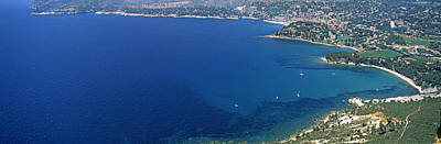 Dazur Photograph - Aerial View Of A Coastline, Cote Dazur by Panoramic Images