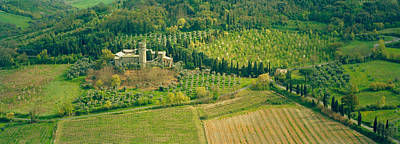 Orvieto Photograph - Aerial View Of A Hotel, Hotel La Badia by Panoramic Images