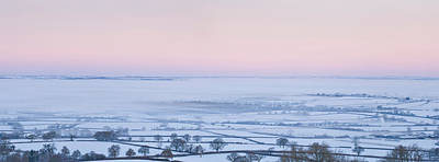 Cold Temperature Photograph - Aerial View Of A Snowy Rural Landscape by Panoramic Images