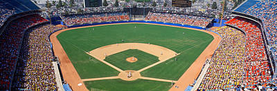 Aerial View Of A Stadium, Dodger Art Print by Panoramic Images