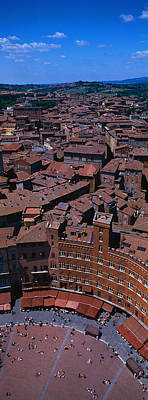 Aerial View Of A Town Square In A City Print by Panoramic Images