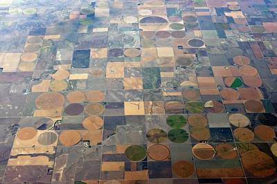 Mid West Photograph - Aerial View Of Agriculture In The Usa by Peter Menzel