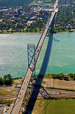 Ambassador Photograph - Aerial View Of Ambassador Bridge by Panoramic Images
