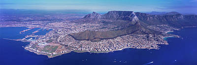 Cape Town Photograph - Aerial View Of An Island, Cape Town by Panoramic Images