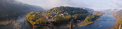 Harpers Ferry Photograph - Aerial View Of An Island, Harpers by Panoramic Images