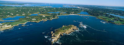 Narragansett Photograph - Aerial View Of An Island, Newport by Panoramic Images