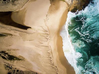 Aerial View Of Beach And Sea Art Print by Aolin Li / Eyeem