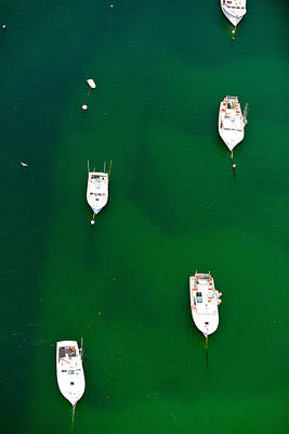 Barnstable Photograph - Aerial View Of Boats In The Sea, Cape by Panoramic Images