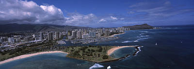 Ala Moana Photograph - Aerial View Of Buildings by Panoramic Images