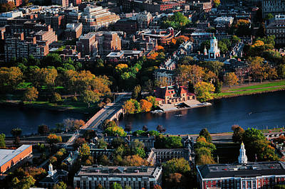 Harvard Wall Art - Photograph - Aerial View Of Cambridge And Anderson by Panoramic Images