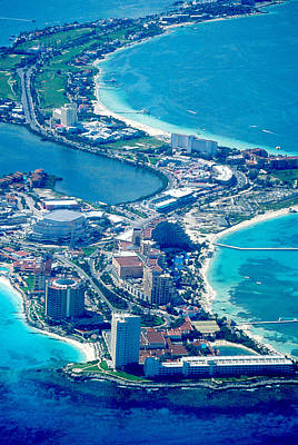 Bath Time - Aerial View of Cancun by Carl Purcell