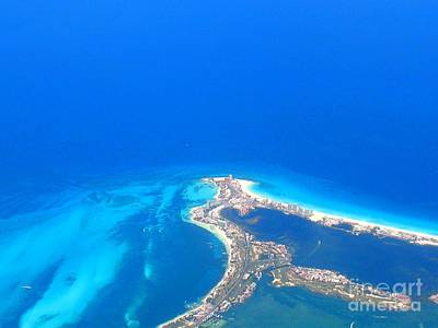 Art Print featuring the photograph Aerial View Of Cancun by Patti Whitten