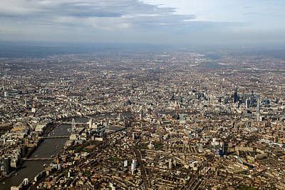 Photograph - Aerial View Of Central London by Gary Eason